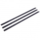 461 x 16MM 3K Carbon Fiber Tail Boom for Trex T-rex 500 Helicopter - Black (3 PCS)