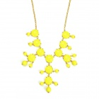 eQute POTW1C7 Elegant Fashionable Gold Plated Bubble Choker Necklace - Yellow + Golden