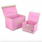KAX KX0015 Storage Box - Pink (2PCS)