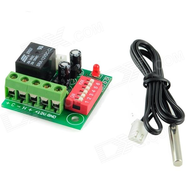 W1701 Temperatura Detectar Chave + Waterproof Probe (DC 12V)