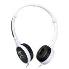 SOBU Pi-13 Folding Stereo Music Headset Headphones w/ Mic - White + Black (3.5mm Plug / 120cm-Cable)