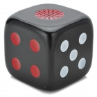 Dice Style Portable Rechargeable 2-Channel Speaker w/ TF / FM - Black + White + Red