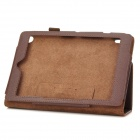 Lychee Grain Protective PU Leather Case for Acer A1-810 - Brown