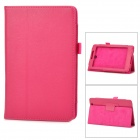 Lychee Grain Protective PU Leather Case for Asus ME371 - Deep Pink