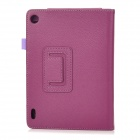 Lychee Grain Protective PU Leather Case for Acer A1-810 - Purple