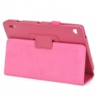 Lychee Grain Protective PU Leather Case for Acer A1-810 - Deep Pink