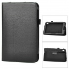 Lychee Grain Protective PU Leather Case for Acer W3 - Black