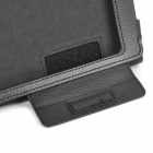 Lychee Grain Protective PU Leather Case for Asus ME371 - Black
