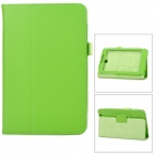 Stylish Protective PU Leather Case for Asus ME371 - Green