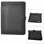"Universal Lychee Grain Protective PU Leather Case for 8"" Tablet PC - Black"