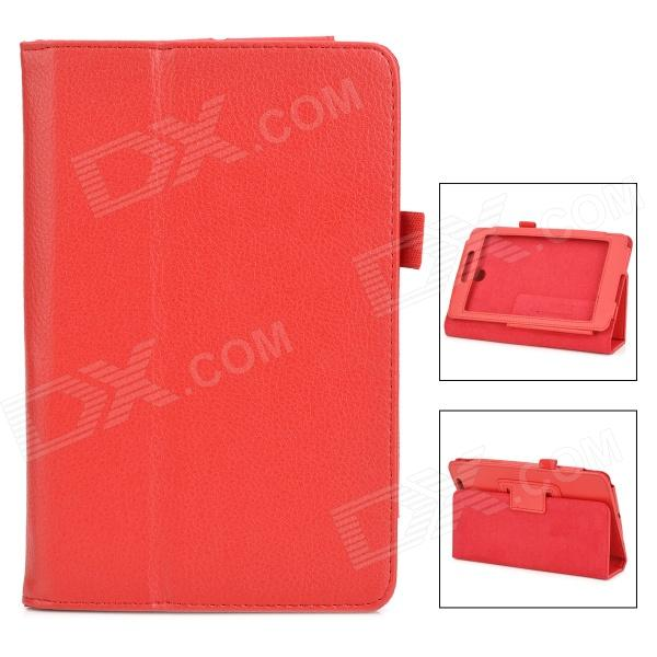 Lychee Grain Protective PU Leather Case for Asus ME371 - Red