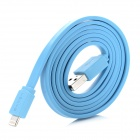 USAMS USB Male to 8pin Lightning Charging & Data Sync Cable for iPhone 5 / iPad 4 - Blue (100cm)