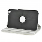 Lychee Grain 360 Degree Rotation Protective PU Leather Case for Samsung T310 - White