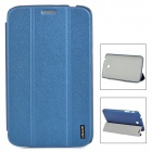 USAMS P3200XK03 PU + PC Cover Case w/ Stand for Samsung Galaxy Tab 3 / P3200 - Deep Blue
