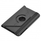 Lychee Grain 360 Degree Rotation Protective PU Leather Case for Samsung T310 - Black