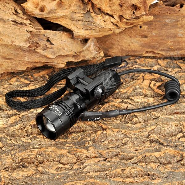 UltraFire UF-760 250lm White Zooming Flashlight w/ Cree XR-E Q5 for 21mm Rail Gun - Black (1x16340)