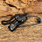 UltraFire UF-760 Cree XR-E Q5 250lm White Zooming Flashlight for 21mm Rail Gun - Black (1 x 16340)