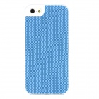 SHOW PITT Protective TPU + PU Back Case for Iphone 5 - Blue + White
