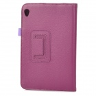 Lychee Grain Protective PU Leather Case for Acer W3 - Purple