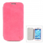 USAMS S4BL04 Protective PU Leather Flip Open Case for Samsung Galaxy S4 / i9500 - Deep Pink