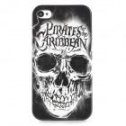 Cool Skull Style Protective Plastic Back Case for Iphone 4 / 4S - Black + White
