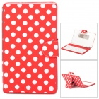 "USB Silicone Keyboard w/ Polka Dot Style PU Leather Case for 7"" Tablet PC - Red + White"
