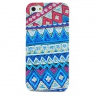 Retro Decorative Pattern Protective Plastic Full Body Case for Iphone 5 - Multicolor