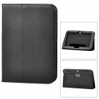 Lychee Grain Protective PU Leather Case for Lenovo A2109 - Black