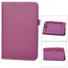 Lychee Grain Protective PU Leather Case for Asus ME371 - Purple