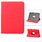 360 Degree Rotation Protective PU Leather Case for Samsung P5200 - Red