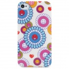 Fashionable Sunflower Pattern Protective Plastic Back Case for Iphone 4S / 4 - Multicolored