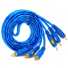 3 x RCA Male to Male Audio Video Connection Cable - Blue (147cm)