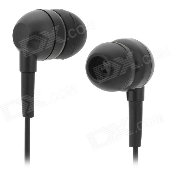 FS-001 Stylish Water Resistant In-Ear Bass Earphones - Black (3.5mm Plug / 88cm) 3 in 1 fish eye macro wide angle clip lens white black