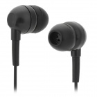 FS-001 Stylish Water Resistant In-Ear Bass Earphones - Black (3.5mm Plug / 88cm)