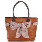 FeelYoung Fashionable Women's Straw Shoulder Bag - Brown (1.96L)