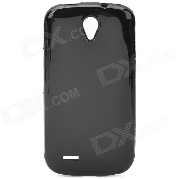 Protective Soft Plastic Back Case for ZTE N909 - Black protective soft pvc back case for htc sensation xl x315e g21 black