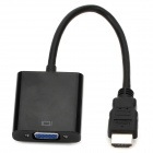 HDMI Male to VGA Female Converter Adapter Cable w/ 3.5mm Audio Jack - Black (25cm)