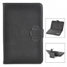 "Universal 61-key Bluetooth Keyboard w/ PU Leather Case for 7"" / 8"" Tablet PC - Black"