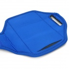 Caso Sports Armband Neoprene para Sony Xperia ZR / M36H / C5502 / HTC One Mini / M4 - Azul + Preto