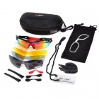 INBIKE IG911 Cycling UV400 Protection Polarized Goggles w/ Replacement Lenses - Black