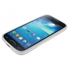 ENKAY Protective Soft TPU Back Case w/ Stand for Samsung Galaxy S4 Mini / i9190 - White