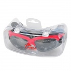 Sinca S928M Swimming Goggles + Ear Plugs Set - Red + Black