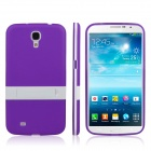 ENKAY Protective TPU Back Case w / Stand for Samsung Galaxy Mega 6.3 i9200 / i9208 - Purple