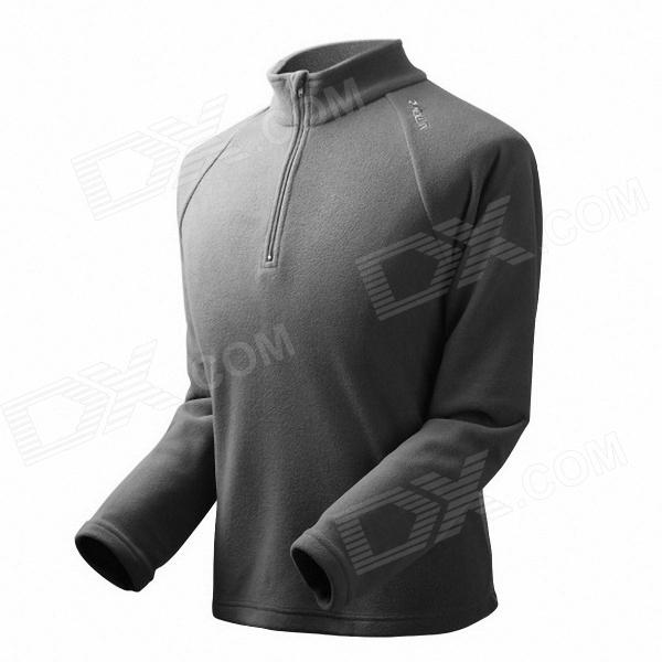Men's Outdoor Polar Fleece Jacket - Dark Grey (Size-L)