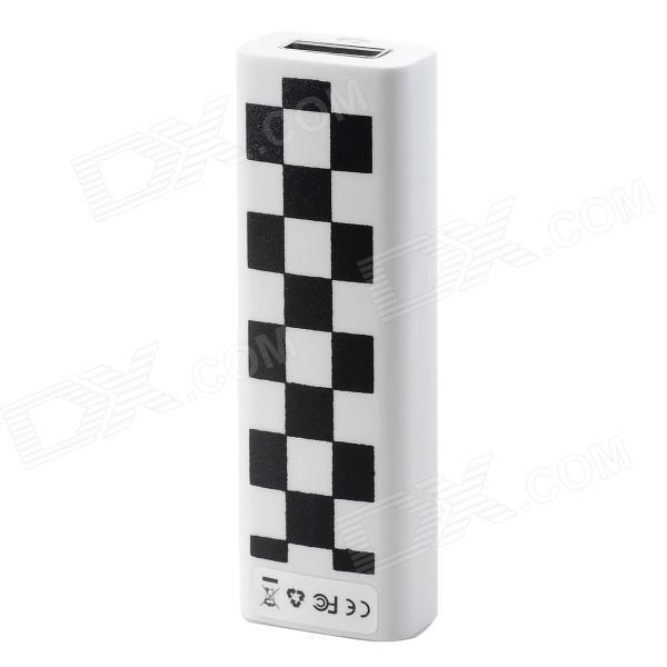 USB Rechargeable Electronic Cigarette Lighter - Black + White