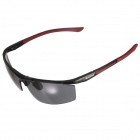 Reedoon 8282 Fashion Magnalium UV400 Protection Polarized Sunglasses for Men - Red + Gray