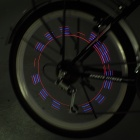 Motion Activated Purple + Red Multi-Effects 5-LED Wheel Light for Bikes and Cars