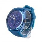 Super Speed V0169 Fashionable Silicone Band Men's Quartz Analog Wrist Watch - Blue (1 x LR626)