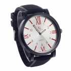 SuperSpeed V0182 Fashionable Stainless Steel Men's Quartz Analog Wrist Watch + Roman Numerals Scale