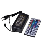 44-key IR Controller + Power Supply Controller RGB Lamp Bar Power Source - Black